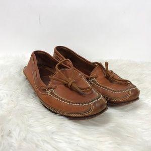 Cole Haan Cognac Leather Boat Shoes